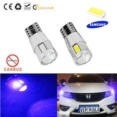 1pcs Car Auto LED T10 194 W5W Canbus 6 smd 5630 LED Light Bulb OBC No error led…