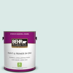 BEHR Premium Plus 1-gal. #hdc-WR15-5 Arctic Flow Zero VOC Eggshell Enamel Interior Paint, Artic Flow