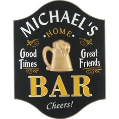Northwest Gifts - Home Bar Custom Man Cave Sign, perfect for the walls of your home.