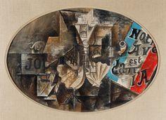 """Leonard A. Lauder cubista Collection en audio e imágenes - Función Multimedia - NYTimes.com """"LA CONCHA DE PEREGRINO SHELL (NOTRE AVENIR EST DANS L'AIR)"""" Pablo Picasso, 1912 La pintura """"Nuestro futuro está en el aire"""" era un interior cubista broma refiriéndose a las invenciones innovadoras y nuevas perspectivas que se estaban forjando por Braque y Picasso."""