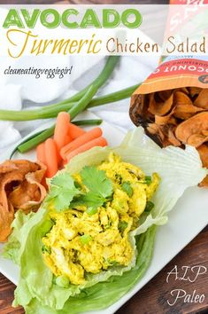 AIP Paleo Avocado Turmeric Chicken Salad | Clean Eating Veggie Girl | Bloglovin'