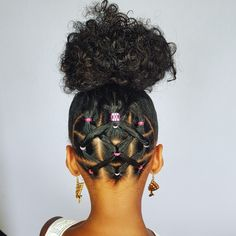 Cute and easy updo-Hairstyles for little girls