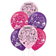 Pink Paw Patrol Girl Theme Latex Balloon (6) from BirthdayExpress.com