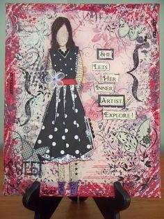 teresa jaye is here to play!: Art Canvas - Jessica