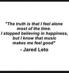 Jared Leto's quote.....