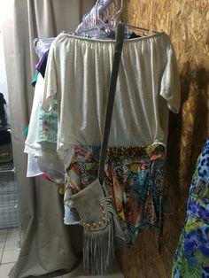 Short + blusa + bolsa Por R$ 110,00