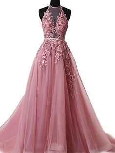 Formal Prom Dresses, 2018 Long Prom Dress Halter Brush Train Simple Lace Prom Dress/Evening Dress Whether you prefer short prom dresses, long prom gowns, or high-low dresses for prom, find your ideal prom dress for 2020 Halter Prom Dresses Long, Beaded Prom Dress, Ball Gowns Prom, A Line Prom Dresses, Cheap Prom Dresses, Party Dresses, Dress Lace, Tulle Lace, Dress Prom