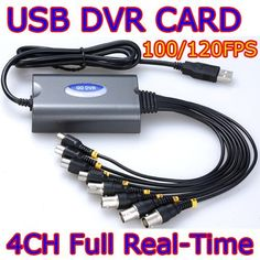 4 Channel Super USB DVR Video & Audio Real-time Network CCTV Capture Card 120FPS by Diysecuritycameraworld. $42.50. As the DVR product specially developed for the USB interface, the USB DVR product adopts the mainstream USB chip manufactured by CYPRESS. It has elegant black appearance and small volume, and it is easy to carry. The latest CONEXANT10-bit high definition ADC adopted at the front end features clear image effect and smooth data, and supports 4-chann...