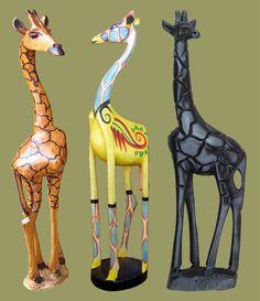 Reasons to love South Africa: Anyone can have a giraffe in their garden Giraffe Decor, Giraffe Art, African Crafts, African Art, Beautiful Creatures, Animals Beautiful, Animal Themed Food, Spiritual Animal, Animal Decor
