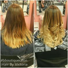 We added more #blondehues to this previous grown out #balayage and gave her a beautiful #blended colour -Victoria