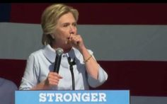 GROSS! Hillary Clinton Caught Spitting Out Horse Pills During Her Rally (VIDEO)