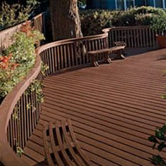 Trex Composite Decking -made with recycled bottles #PlasticsInTheGarden