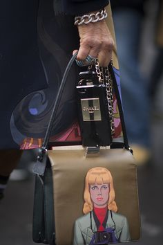 Chanel and Prada are a fancy bag mix - Paris Fashion Week #StreetStyle Accessories Fall 2014