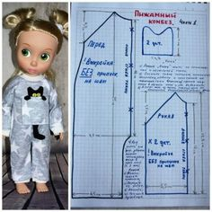 Patterns of pajamas for dolls Disney Animators / Patterns of clothes for dolls-children, master classes / Beybiki. Clothes for dolls Barbie Sewing Patterns, Doll Clothes Patterns, Doll Patterns, Kids Dress Clothes, Doll Clothes Barbie, Baby Girl Dresses Diy, Baby Boy Outfits, Disney Animator Doll, Disney Dolls