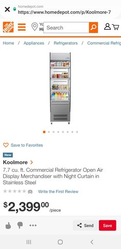 Beverage Refrigerator, Commercial, Home Appliances, Stainless Steel, Writing, House Appliances, Appliances, Being A Writer