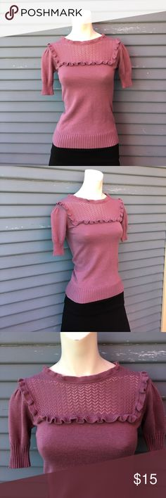 Adorable purple sweater shirt. Size small Adorable purple knitted sweater shirt. Size small smudge Tops Blouses