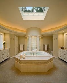 Unique bathtub steals the show in this bathroom [Design: Deep River Partners]