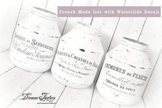 DIY French Made Jars with Waterslide Decals - Tutorial borcane French Made realizate cu decaluri waterslide | Dreams Factory