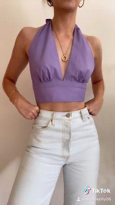 Diy Fashion Hacks, Fashion Outfits, Diy Clothes Design, How To Make Clothes, Making Clothes, Diy Kleidung, Diy Tops, Clothing Hacks, Dress Sewing Patterns