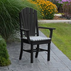Outdoor A & L Furniture Poly Adirondack Back 5 Piece Round Patio Dining Set - ALF345-37