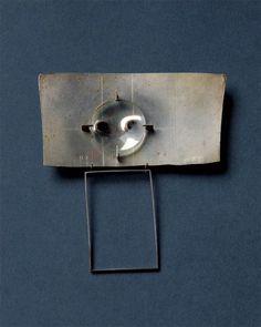 ANTON CEPKA-SLOVAKIA Brosche, 1968 - Silber, geschliffener Bergkristall - 47x86x10mm - Inv.Nr.345/2006/AC