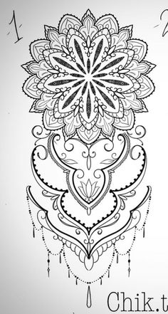 Mönster till tatto - You are in the right place about floral Mandala Tattoo Here we Mandala Tattoo Design, Henna Tattoo Designs, Mandalas Tattoos, Tattoo Avant Bras, Tattoo Templates, Muster Tattoos, Lace Tattoo, Shoulder Tattoos, Sleeve Tattoos For Women