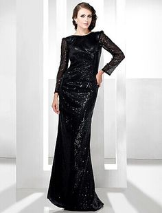 Sequined Sheath/Column Bateau Floor-length Evening Dress inspired by Rosario Dawson SilhouetteSheath/Column  Hemline/TrainFloor-length Sleeve LengthLong Sleeve Sleeve TypeT-shirt   FabricSequined Shown ColorBlack Body ShapeMisses, Rectangle, Pear, Inverted Triangle, Hourglass, Apple, Petite, Plus Sizes OccasionMilitary Ball, Formal Evening Celebrity StyleAll Celebrity Styles #blackeveningdresswithsleeves #blackdress #eveningdress #dresswithsleeves #bridgat.com