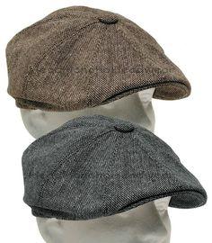 Tweed Gatsby Newsboy Cap Men Ivy Hat Wool Golf Driving Flat Cabbie s m l xl  xxl   de742e38e41f