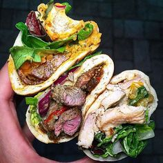 Middle eastern cravings for these pork, duck, and chicken shawarma wraps from @soukshawarma . 📍: 1111 Wilshire Blvd. #104 Los Angeles, CA. 90017 . 📸: @stirandstyle