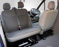 Kiravans Vivaro / Trafic (2001-2014) Double Passenger Seat Swivel... T3 Camper, Sprinter Camper, Camper Life, Sprinter Van Conversion, Camper Van Conversion Diy, Vw Conversions, Mercedes Sprinter, Vauxhall Vivaro Camper, Van 4x4