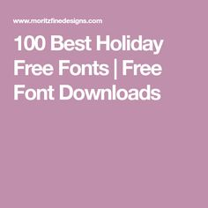 100 Best Holiday Free Fonts | Free Font Downloads