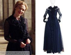 Reign: Season 3 Episode 1 Greer's Black Sheer Dot Dress