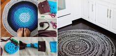 Vezi aici 13 idei pentru a realiza covorase multicolore din haine vechi, pe care nu le mai folosesti. Idei practice DIY pe care le poti pune in practica.
