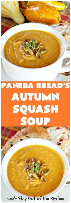 Panera Bread's Autumn Squash Soup - Fleisch Copycat Recipes, Soup Recipes, Cooking Recipes, Healthy Recipes, Cheap Recipes, Recipies, Chicken Recipes, Cooking Corn, Cooking Salmon
