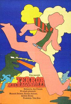 althistories:  Yellow Submarine meets Godzilla in this Polish poster for 1975s Terror of Mechagodzilla.