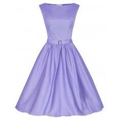 LINDY BOP 'AUDREY' HEPBURN STYLE VINTAGE 1950's WISTERIA ROCKABILLY SWING DRESS