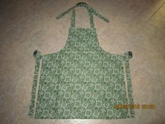 Green & Black Bandana Cotton (solid black backing-no pockets) - Adult Sized Apron by ShawnasSpecialties on Etsy