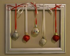 the perfect window frame to feature my mini ornaments