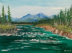 Portfolio Gallery for Al Budarin Impressionist Paintings, Rocky Mountains, Waterfalls, The Great Outdoors, Places To Visit, Display, River, Gallery, Garden