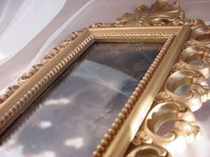 Vtg Regency Homco Candle Wall Sconce Gold-tone w Smoky Mirror Ornate Gold 20 in
