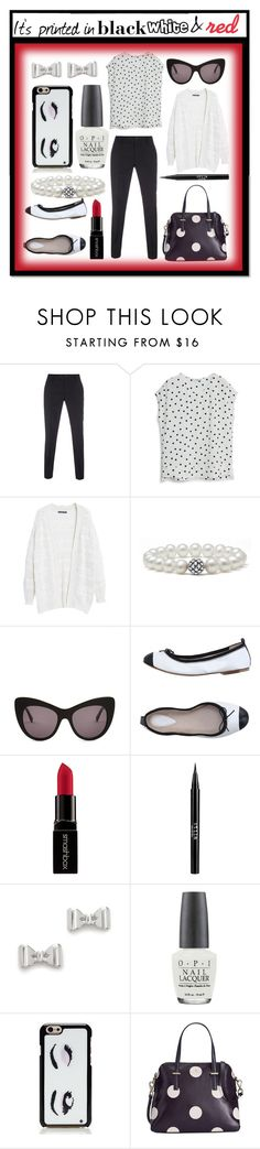 """""""It's printed in black, white and red"""" by randa67 ❤ liked on Polyvore featuring Paul Smith, MANGO, Violeta by Mango, Lagos, STELLA McCARTNEY, Bloch, Smashbox, Stila, Marc by Marc Jacobs and OPI"""