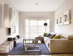 Sofá para un salón alargado