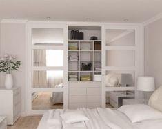 45 Best Ideas For Bedroom Wardrobe Storage Bedroom Closet Doors, Sliding Wardrobe Doors, Bedroom Cupboards, Bedroom Wardrobe, Bedroom Storage, Wardrobe Storage, Ikea Sliding Wardrobes, Wardrobe With Mirror, Mirrored Closet Doors