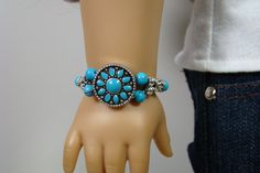American Girl Boho Style Turquoise Bracelet by 2SistersSewCrafty, $9.00