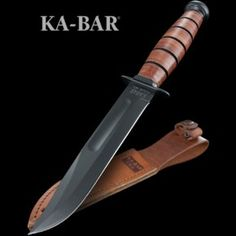 We stock a vast range of fantastic fixed blade knives both big and small. Specifically created for activities such as hunting, survival and wilderness skills. Ka Bar Knives, Knives And Tools, Brown Leather Belt, Leather Handle, Hawkeye Bow, American Legend, Edc Everyday Carry, Fixed Blade Knife, Knife Making