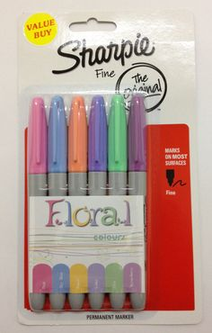 Floral Sharpie color set