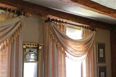 Gorgeous swags and panels!
