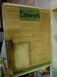 Vintage Retro Minor Easiwork WW2 Kitchen Cabinet Unit Very Original in Home, Furniture & DIY, Furniture, Cabinets & Cupboards | eBay