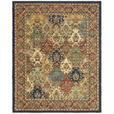 Handmade Heritage Heirloom Multicolor Wool Rug (7'6 x 9'6)