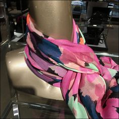 I can't certify that the neckwear is actually contemporary in design, but the Nordstrom Modern Scarf Merchandising approach certainly is. Scarf Display, Scarf Hanger, Retail Fixtures, Scarf Knots, Nordstrom, Modern, Trendy Tree, Scarf Tieing, Scarf Holder